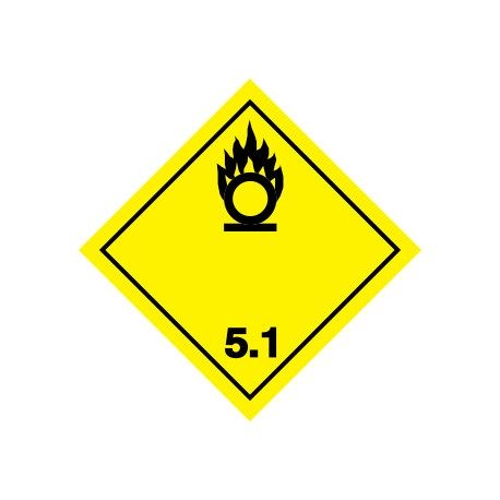 Naklejka ADR - MATERIAŁY UTLENIAJĄCE 5.1 250x250