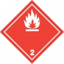 Naklejka ADR - GAZY ŁATWOPALNE 2.1 (biały) 250x250