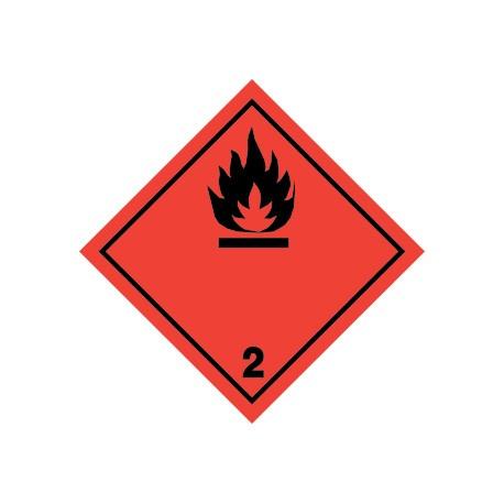 Naklejka ADR - GAZY ŁATWOPALNE 2.1 250x250