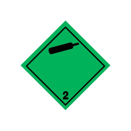 Naklejka ADR - GAZY NIEPALNE, NIETRUJĄCE 2.2 250x250