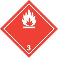 Naklejka ADR - CIECZE ŁATWOPALNE klasa 3 (biały) 250x250