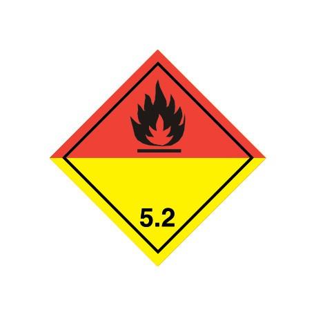 Naklejka ADR - NADTLENKI ORGANICZNE 5.2 (biała) 100x100