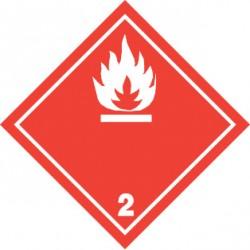 Naklejka ADR - GAZY ŁATWOPALNE 2.1 (biały) 100x100
