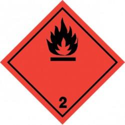 Naklejka ADR - GAZY ŁATWOPALNE 2.1 100x100
