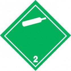 Naklejka ADR - GAZY NIEPALNE, NIETRUJĄCE 2.2 (biała) 100x100