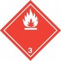 Naklejka ADR - CIECZE ŁATWOPALNE klasa 3 (biały) 100x100