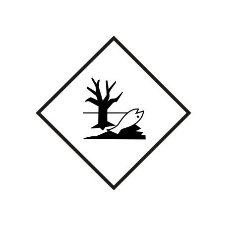 """Naklejka ADR - MATERIAŁY ZAGRAŻAJĄCE ŚRODOWISKU 100x100 """"Rybka i drzewo"""""""
