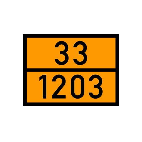 Naklejka, tablica ADR - Dowolne cyfry 400x300