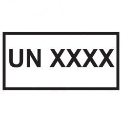 Naklejka ADR - UN 100x50mm