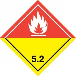 Naklejka ADR - NADTLENKI ORGANICZNE 5.2 (biała) 300x300