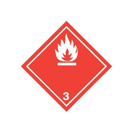 Naklejka ADR - GAZY ŁATWOPALNE klasa 3 (biały) 300x300