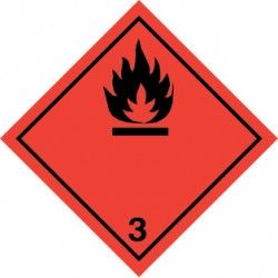Naklejka ADR - GAZY ŁATWOPALNE klasa 3 300x300