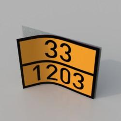 WKŁAD NAKLEJKI ADR - 250x250