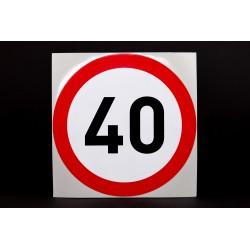 Naklejka Limit prędkości 40 km/h