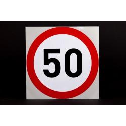 Naklejka Limit prędkości 50 km/h