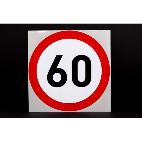 Naklejka Limit prędkości 60 km/h