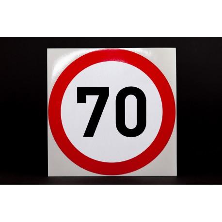 Naklejka Limit prędkości 70 km/h