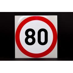Naklejka Limit prędkości 80 km/h