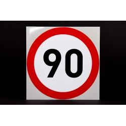 Naklejka Limit prędkości 90 km/h