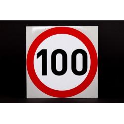 Naklejka Limit prędkości 100 km/h - odblask