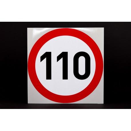 Naklejka Limit prędkości 110 km/h - odblask