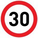 Naklejka Limit prędkości 30 km/h - folia nieodblaskowa