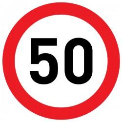 Naklejka Limit prędkości 50 km/h folia nieodblaskowa