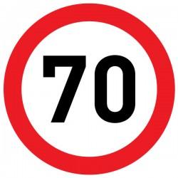 Naklejka Limit prędkości 70 km/h - folia nieodblaskowa
