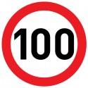 Naklejka Limit prędkości 100 km/h - folia nieodblaskowa