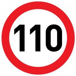Naklejka Limit prędkości 110 km/h - folia nieodblaskowa