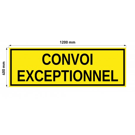Tablica CONVOI EXCEPTIONNEL